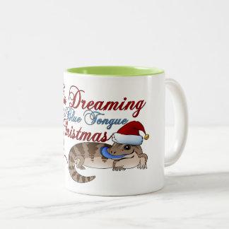 Blue Tongue Skink Christmas Two-Tone Coffee Mug