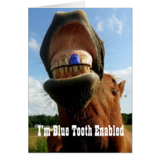 Blue Tooth Enabled Horse Card