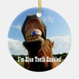 Blue Tooth Enabled Horse Ceramic Ornament