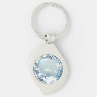Blue Topaz 1 Keychain