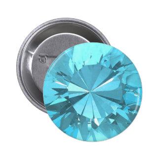 Blue Topaz 3 2 Inch Round Button
