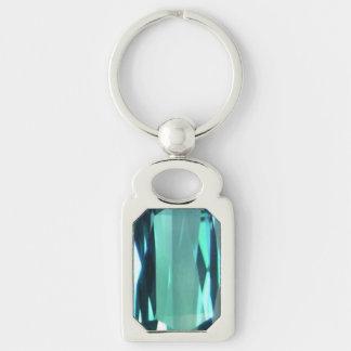 Blue Topaz 4 Keychain