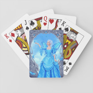Blue Topaz Birthstone Fairy Classic Playing Cards