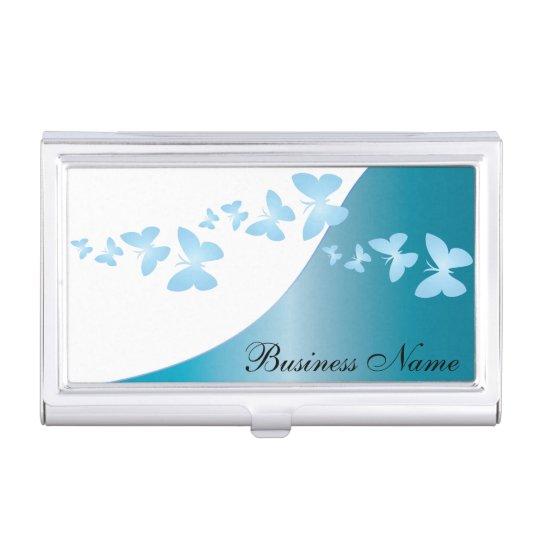 Blue Topaz Elegant Personalize Card Holder Business Card Holder