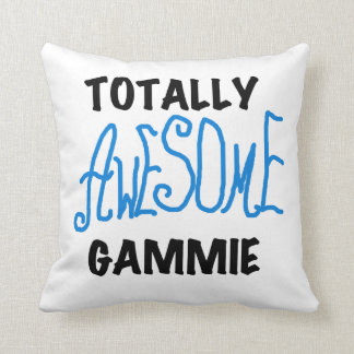 Blue Totally Awesome Gammie Gifts Throw Pillow