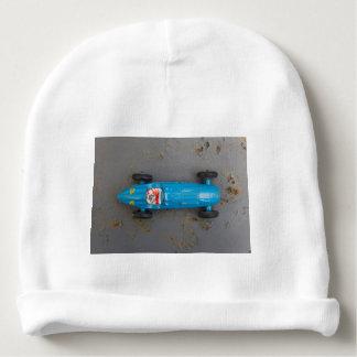 Blue toy car baby beanie