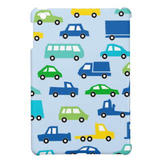 blue toy car pattern - automobile illustration iPad mini covers