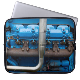 Blue Tractor Motor Laptop Sleeve