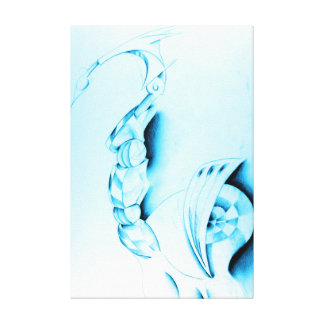 Blue Train - Gallery Wrapped Canvas Print