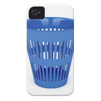 Blue trash can Case-Mate iPhone 4 case