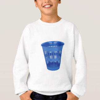 Blue trash can sweatshirt