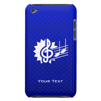 Blue Treble Clef Music Notes iPod Touch Case
