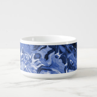Blue Tree Abstract Chili Bowl