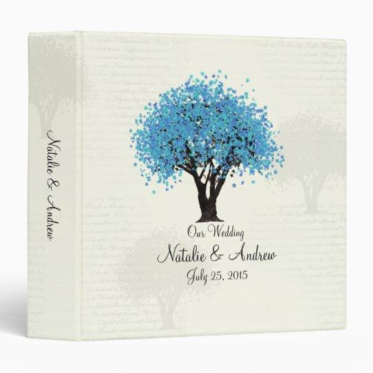 Blue Tree Dancing Blooms 3 Ring Binders