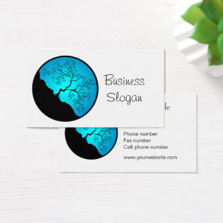 Blue Tree of Life Connect with Your Customer Business Card