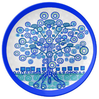 Blue Tree of Life Plate