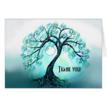Blue Tree of Life Thank You card