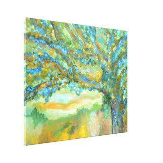 Blue tree painting | tree landscape art canvas