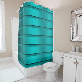blue trendy sower curtain