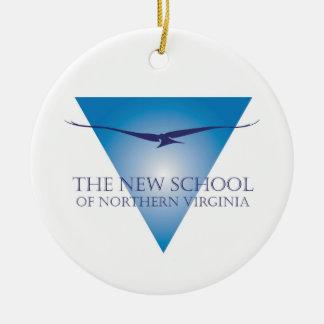 Blue Triangle Logo Ornament