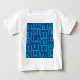 blue triangle pattern baby T-Shirt