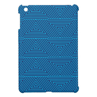 blue triangle pattern case for the iPad mini