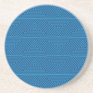 blue triangle pattern coaster