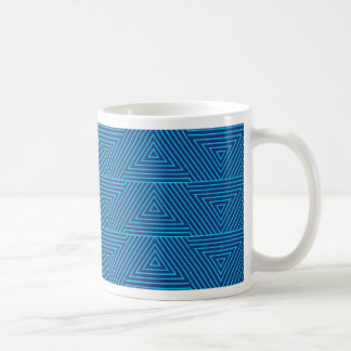 blue triangle pattern coffee mug