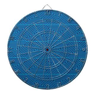 blue triangle pattern dartboard