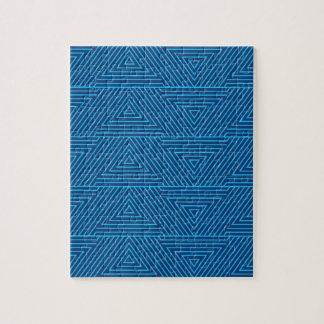 blue triangle pattern jigsaw puzzle