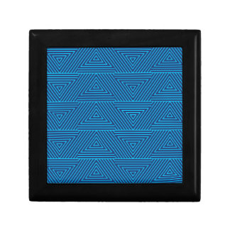 blue triangle pattern keepsake box