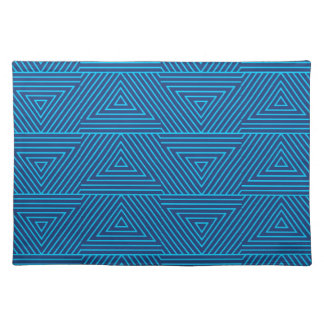 blue triangle pattern placemat
