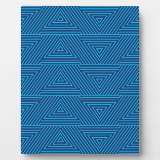 blue triangle pattern plaque