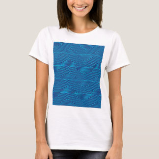 blue triangle pattern T-Shirt