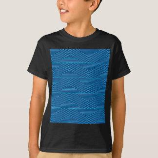 blue triangle pattern T-Shirt