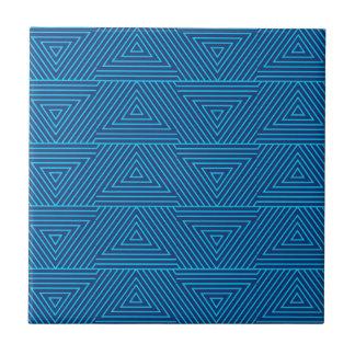 blue triangle pattern tile