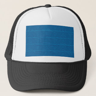 blue triangle pattern trucker hat
