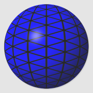 blue triangle sphere sticker