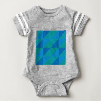 Blue Triangles Baby Bodysuit