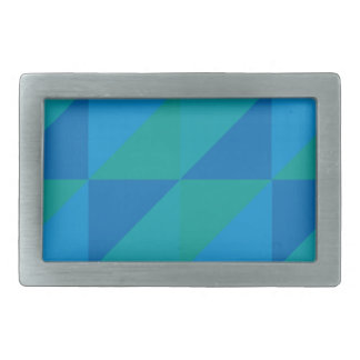Blue Triangles Belt Buckle