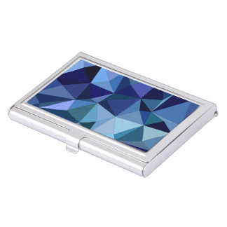 Blue triangles business card holder