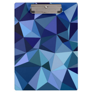 Blue triangles clipboards