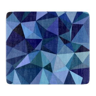 Blue triangles cutting board