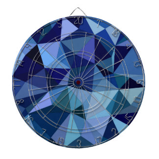 Blue triangles dartboard