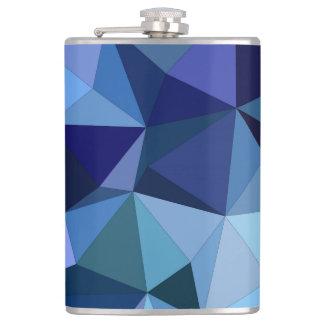 Blue triangles flasks