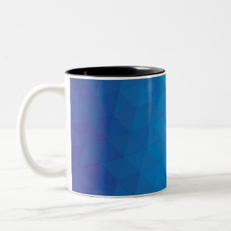 Blue Triangles Geometric Mug