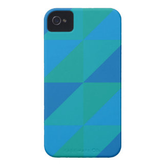 Blue Triangles iPhone 4 Cases