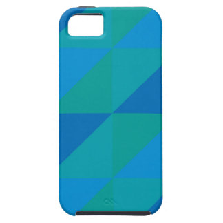 Blue Triangles iPhone 5 Case