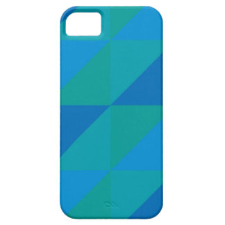Blue Triangles iPhone 5 Cover