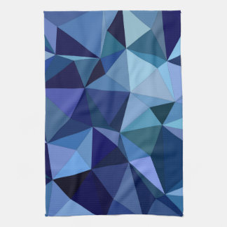 Blue triangles kitchen towel